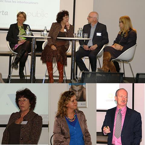 Geneviève Degisves, Kim Thienpont et Prof. Alex Vanderstraeten